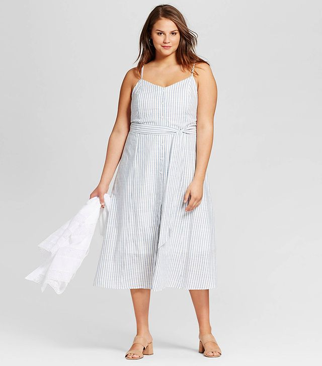 Who What Wear Button-Down Tank Dress
