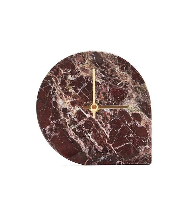 AYTM Marble Red Table Clock