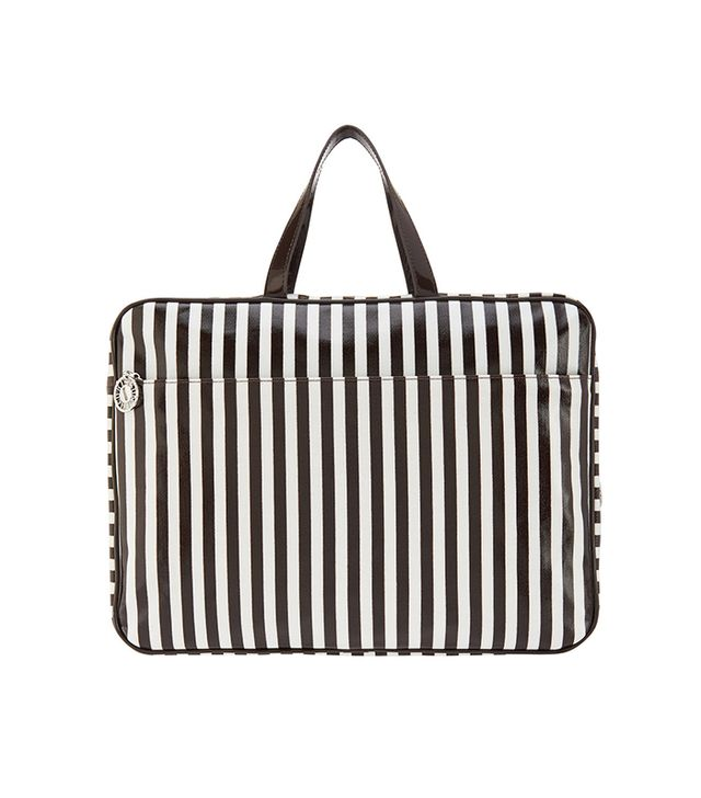 Henri Bendel Brown & White Extra Large Carry All Bag