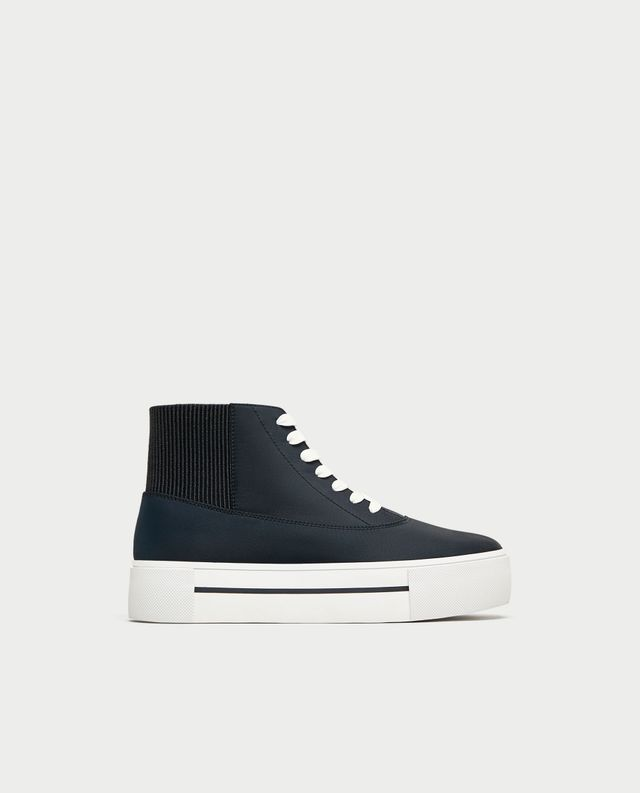 Zara High Top Sneakers