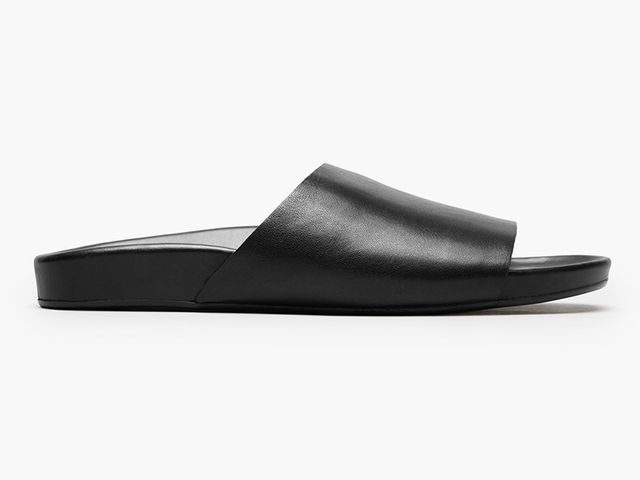 Women's Form Leather Slide Sandal by Everlane in Black, Size 9