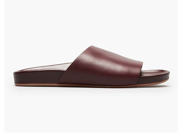 Women's Form Leather Slide Sandal by Everlane in Wine, Size 6