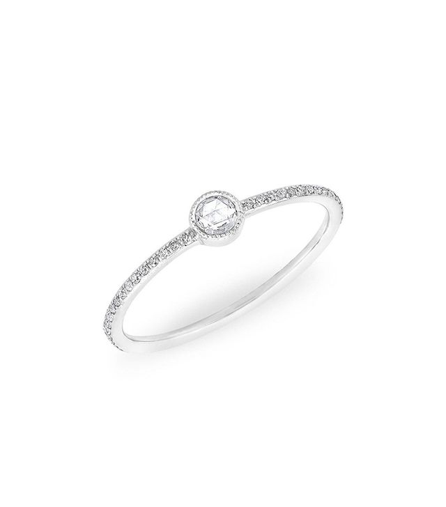 Anne Sisteron 14K White Gold Diamond Solitaire Ring