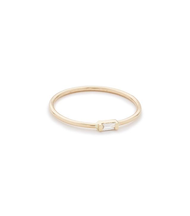 14k Gold Horizontal Diamond Ring