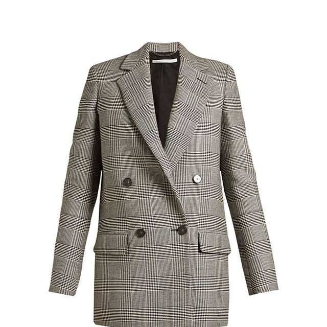 Milly Prince of Wales-checked blazer