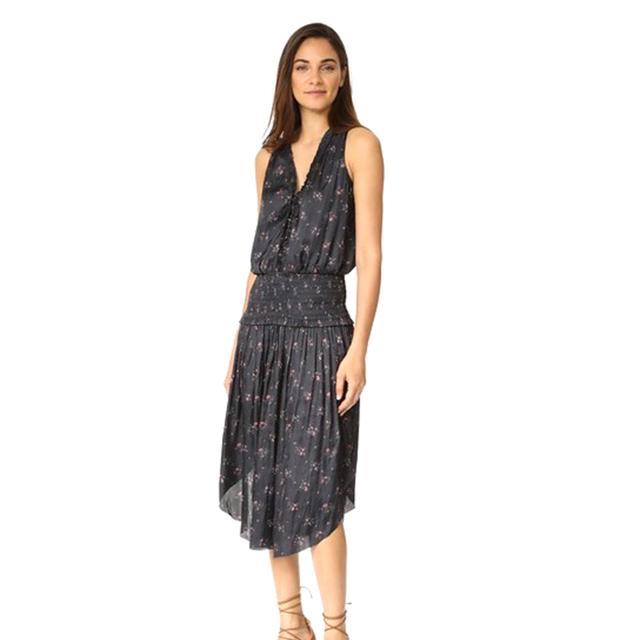 Women's Lucille Floral Satin Sleeveless Dress