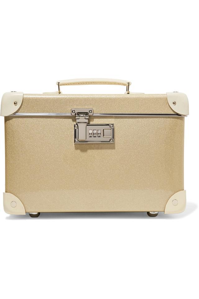 Globe-Trotter Champagne 13'' leather-trimmed fiberboard vanity case