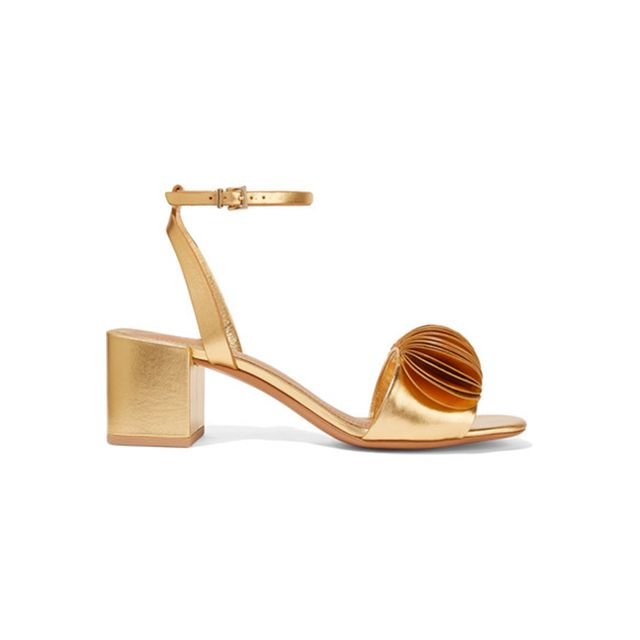 Mercedes Castillo Riza Appliquéd Metallic Leather Sandals