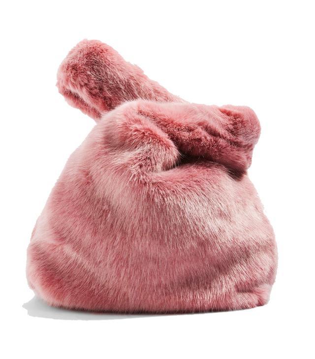 Topshop Dolly fur bag pink