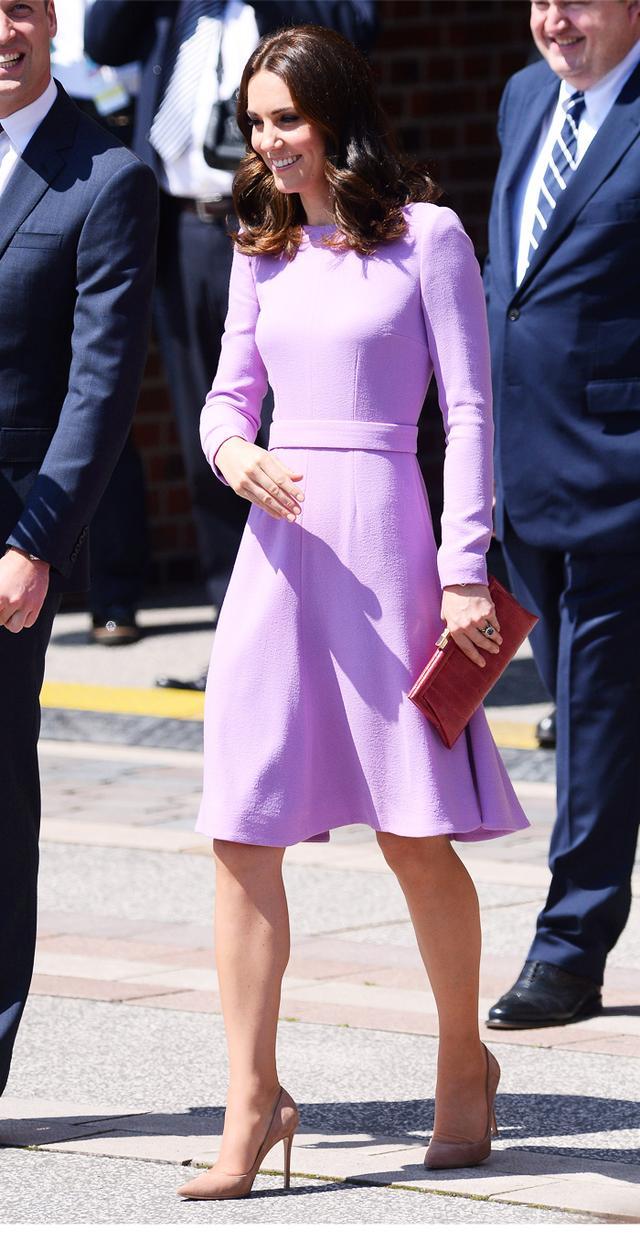Kate Middleton style: Lilac dress Emilia Wickstead