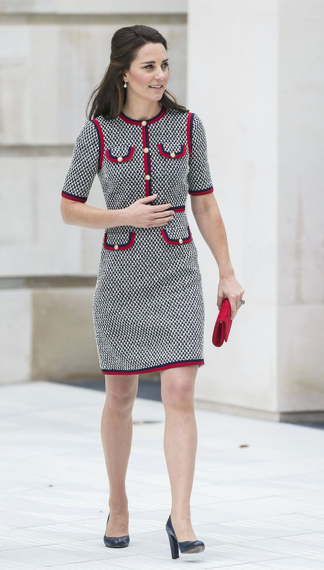 Kate Middleton style: the Duchess of Cambridge wearing a Gucci shift dress