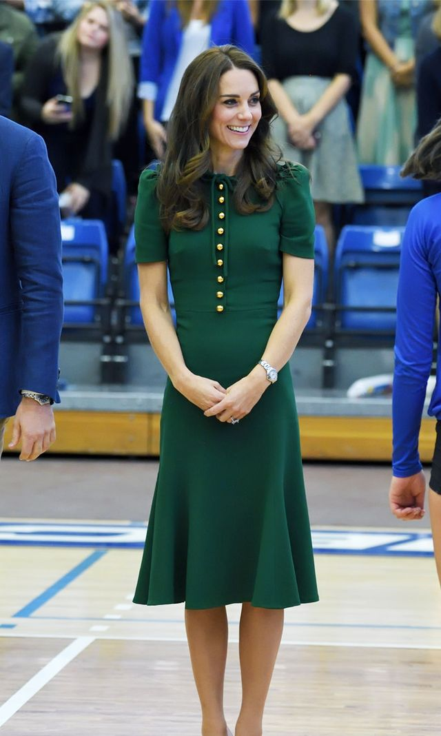 Kate Middleton style: Green Dolce & Gabbana outfit