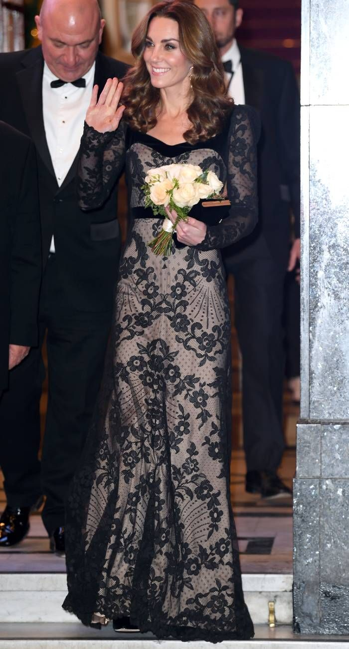 Kate Middleton Style: at the royal variety performance wearing alexander mcqueen
