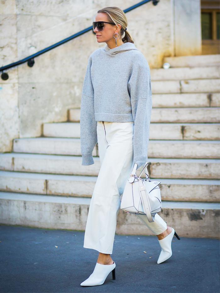 Celine Aagaard Wearing  A Grey Hoodie