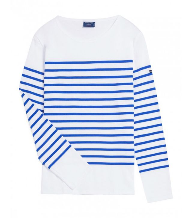The breton top is over 200 years old and still chic for St james striped shirt