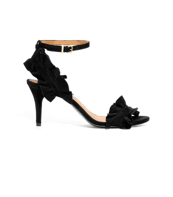 Frill Two-Strap Sandals