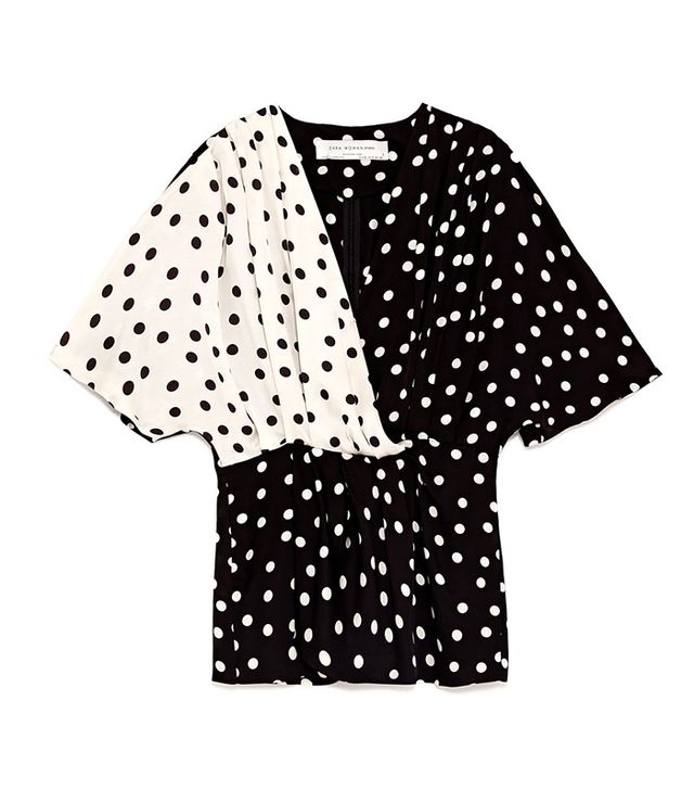 Zara Combined Polka-Dot Shirt