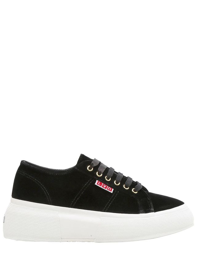 LVR Editions Velvet Platform Sneakers