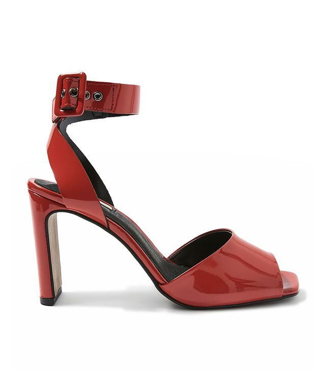 ROUX Patent Square Toe Shoes