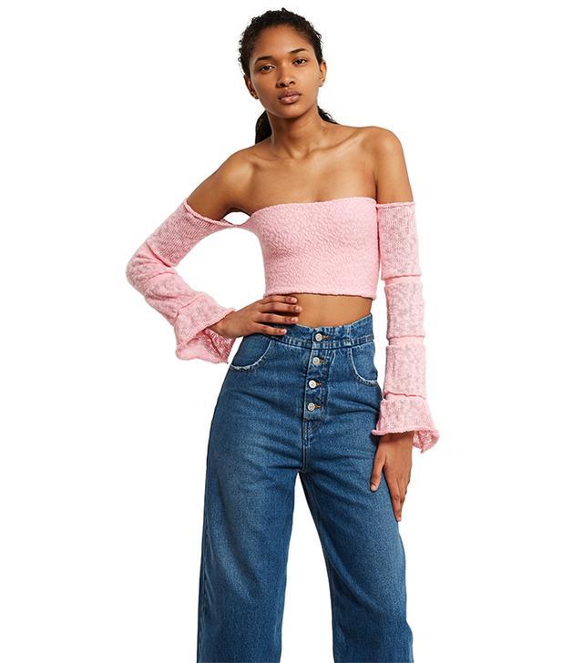 Pearle Knits Pink Kiki Crop Top