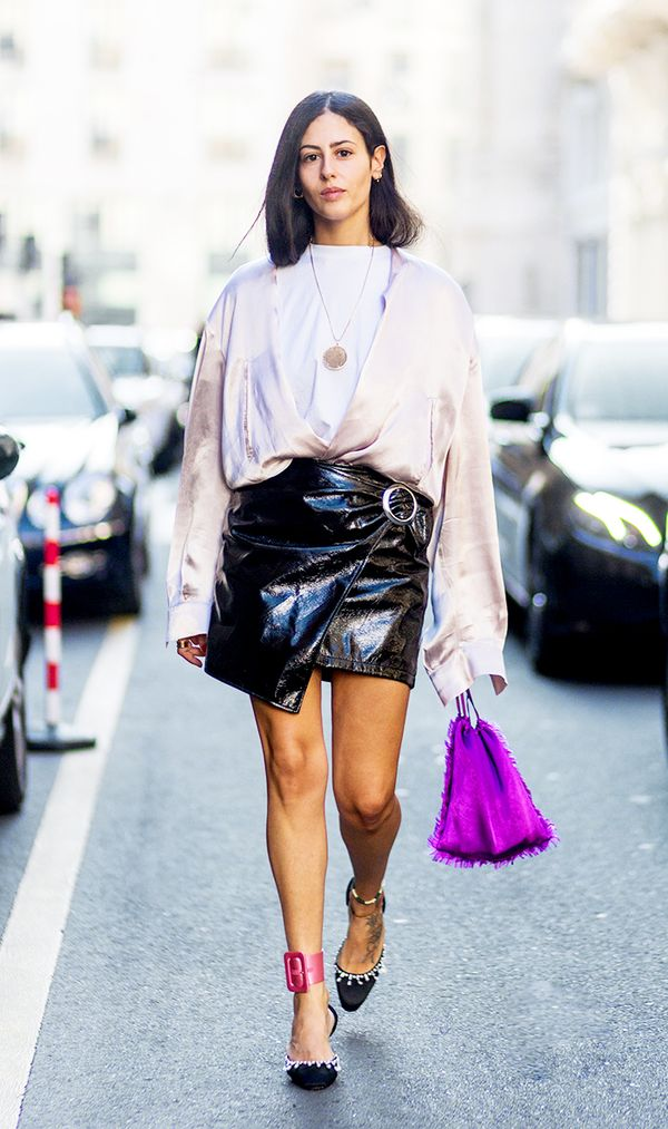 leather skirt in the summer