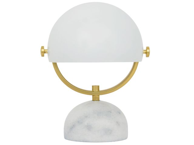 Beacon Lighting Lowe Table Lamp in White