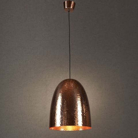 Dome Hammered Metal Pendant Light