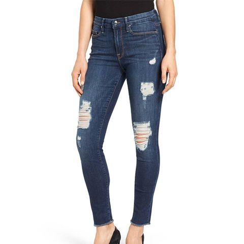 Women's Good Legs High Rise Ripped Skinny Jeans