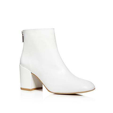 Bacari Leather High Heel Booties