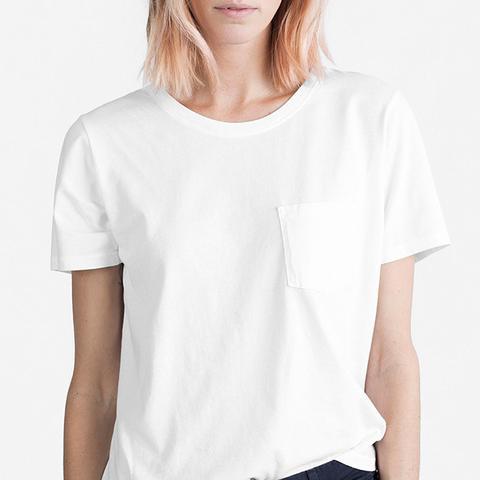 Women's Cotton Box-Cut Pocket T-Shirt by Everlane