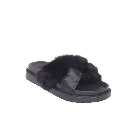 Kassandra Faux-Fur Slide Sandals