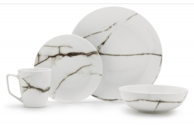 Salt&Pepper 16 Piece Marble Dinner Set