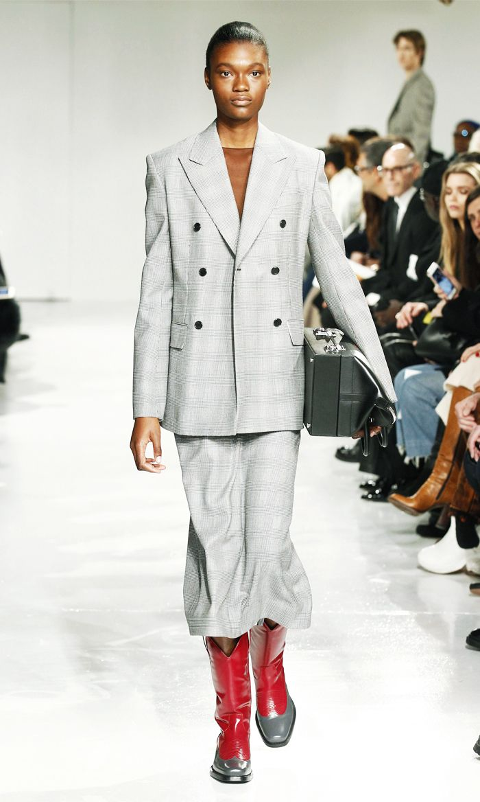 Best checked suits: Calvin Klein checked suit