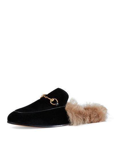 Princetown Velvet Slide Loafer
