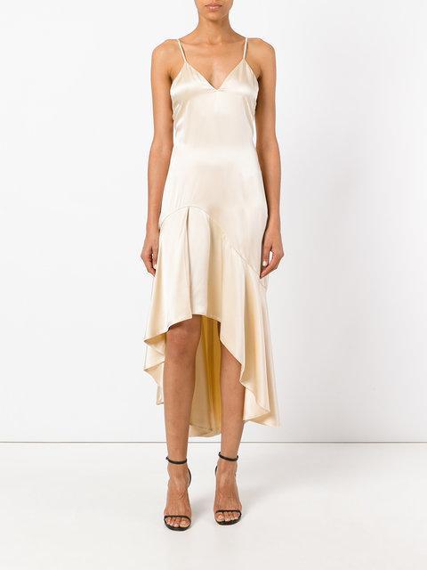 Jonathan Simkhai Silk High Low Slip Dress