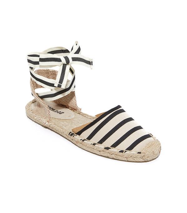 walking sandals soludos Striped Espadrille Sandals