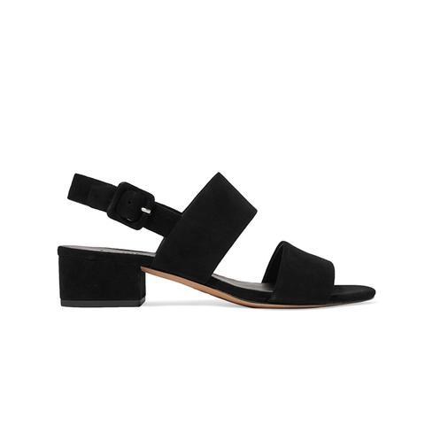 Taye Suede Mid Heel Sandals