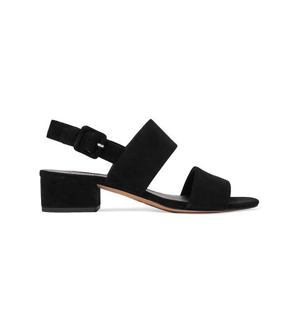 walking sandals vince Taye Suede Mid Heel Sandals