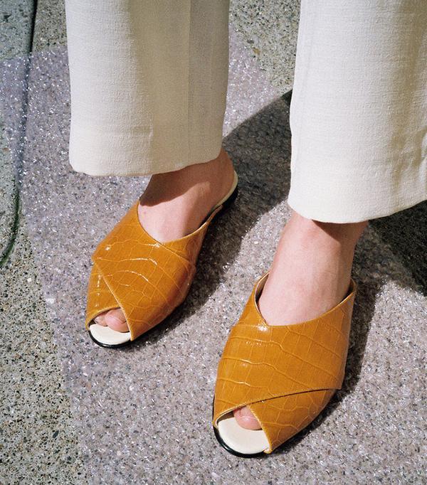 walking sandals Trademark Pajama Sandal in Camel