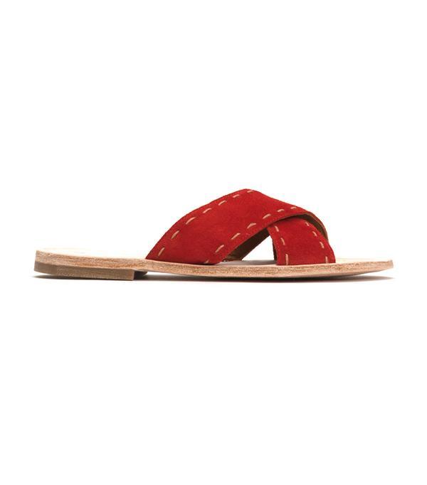 walking sandals Frye Avery Pickstitch Slide