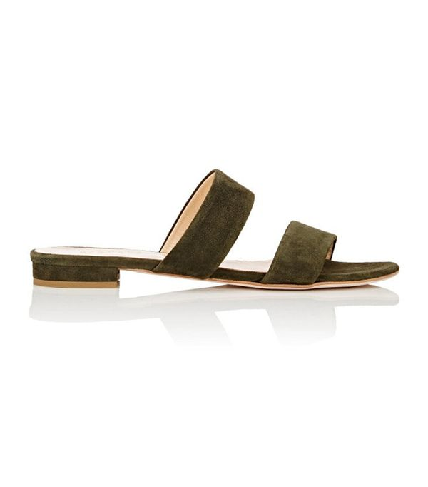 walking sandals barneys new york Double-Band Slides