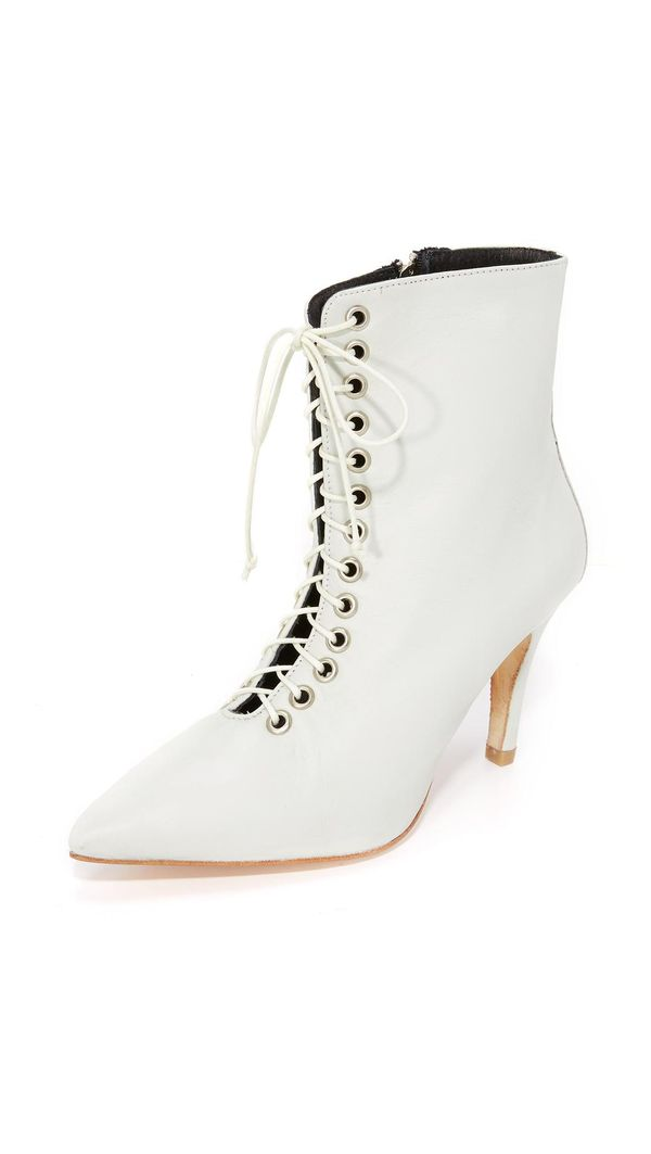 The Delancey Lace Up Booties