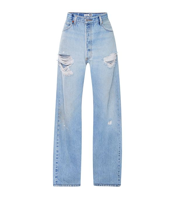 Ultra High Rise Straight Leg Jeans