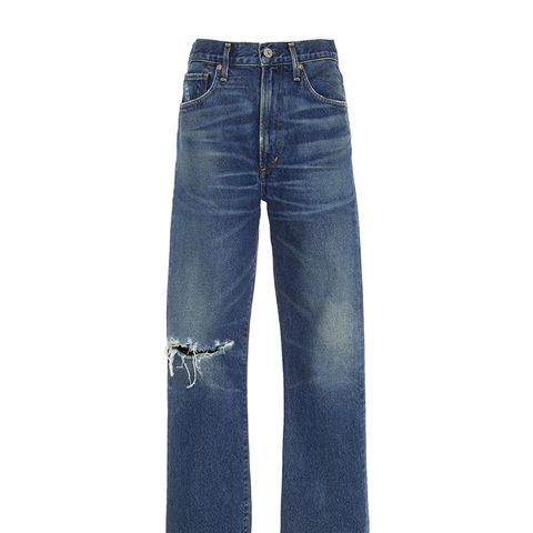 Dree Distressed Slim-Leg Jeans