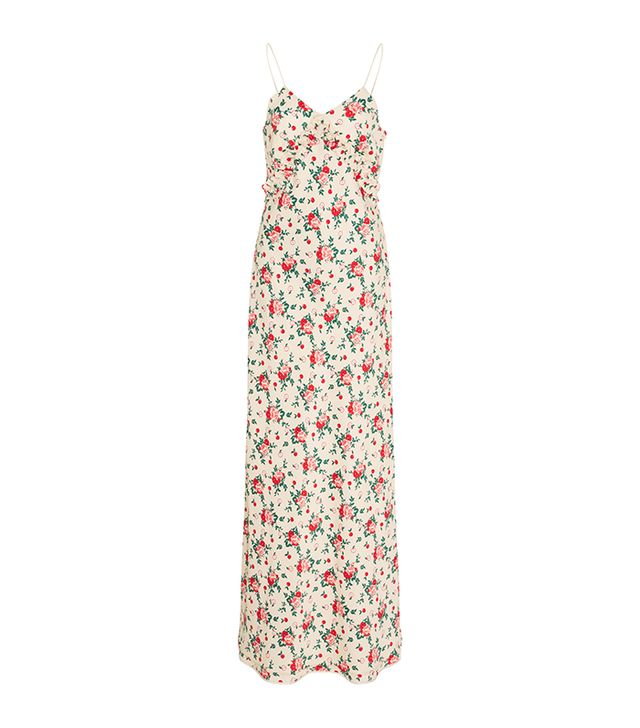 Bariki Floral Slip Dress with Neck Tie