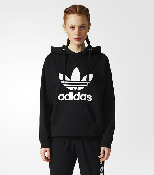 Adidas Trefoil Hoodie in Black