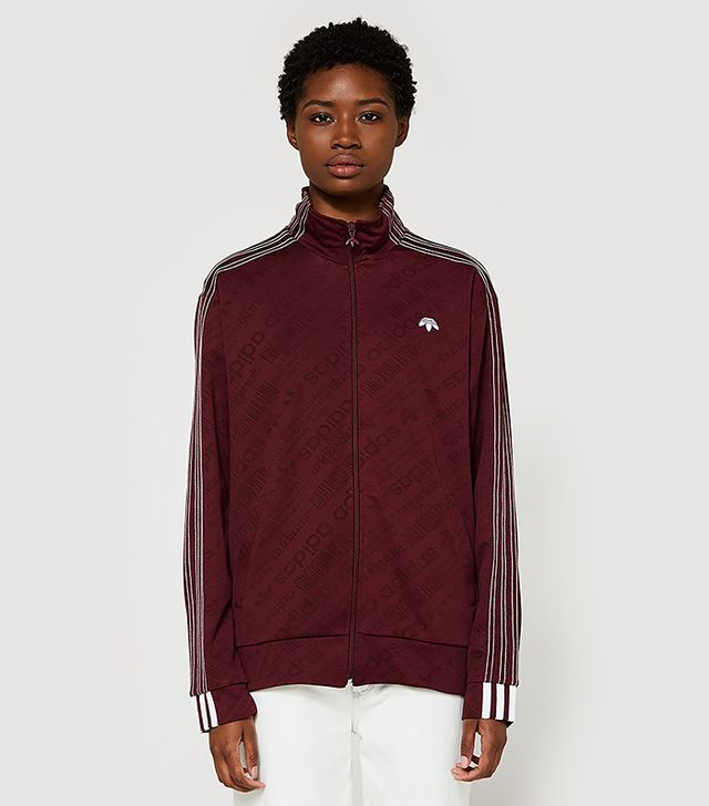 Jacquard Track Top in Maroon