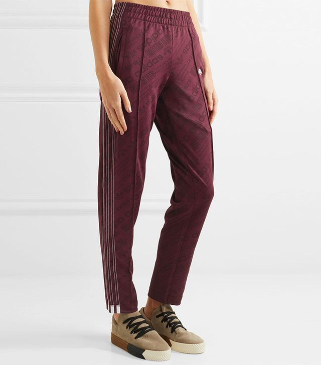 Embroidered Jacquard Track Pants