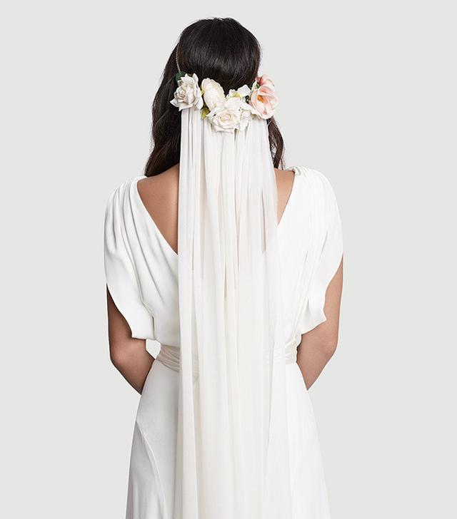 floral wedding veil