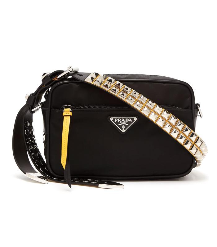 Prada Stud-Embellished Nylon Bag